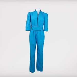 80's Puff Sleeve Jumpsuit